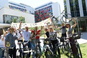 """Participation active chaque année au challenge """"Au boulot à vélo"""" pour promouvoir les déplacements doux."""