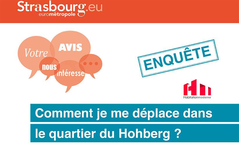 Découvrez Enquête sur les déplacements-quartier du Hohberg