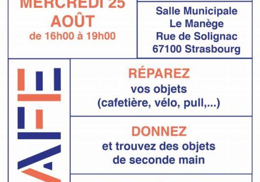 Réparez, donnez ou récupérez des objets le 25 août au Neuhof ! - Habitation Moderne